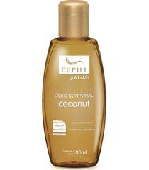 nupill gold skin óleo corporal coconut 100ml - tricae
