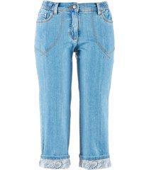 jeans capri con cinta comoda (blu) - bpc bonprix collection