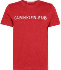 institutional logo  slim t-shirt rojo calvin klein