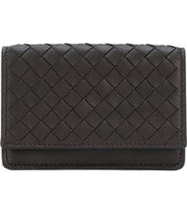 bottega veneta espresso intrecciato nappa card case - brown