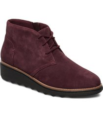 sharon hop shoes boots ankle boots ankle boot - flat röd clarks
