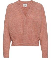 brook knit boxy cardigan stickad tröja cardigan rosa second female