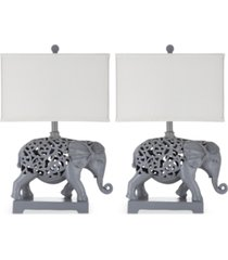 safavieh set of 2 hathi table lamps