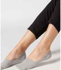 calzedonia unisex cotton invisible socks woman grey size 34-36
