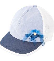 familiar bow contrast cap - white