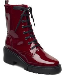 jriso_pa shoes boots ankle boots ankle boot - flat röd unisa