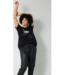 shirt angel of style zwart::zilverkleur