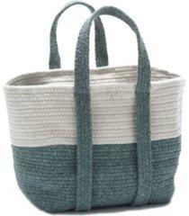 farmhouse square braided basket