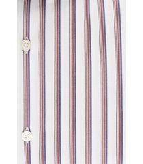 van gils heren overhemd elran ecru verticale strepen tailored fit ml7