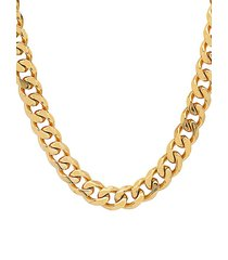 18k goldplated stainless steel chain necklace