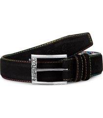 robert graham men's conlan suede belt - black - size 32