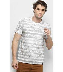 camiseta all free listrada folhagem masculina