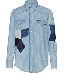foundation western s långärmad skjorta blå calvin klein jeans