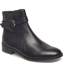 netley olivia shoes boots ankle boots ankle boot - flat svart clarks