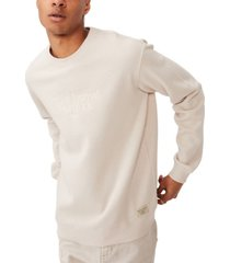 men's crew fleece sweater