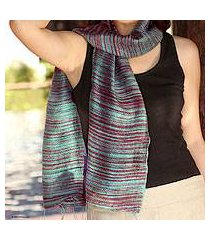 silk batik scarf, 'mae nam khong valley' (thailand)