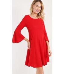 vestido corto evase rojo night concept