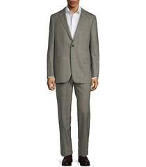 2-piece wool check suit