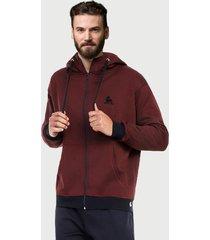 chaqueta hoodie para hombre vinotinto