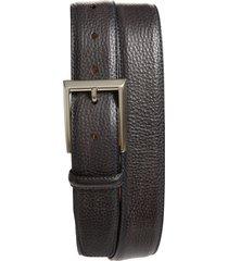 men's magnanni rocas leather belt, size 38 - grey