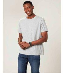 camiseta cinza claro tradicional malwee cinza claro - xgg