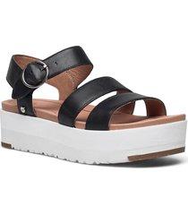 w leedah shoes summer shoes flat sandals svart ugg