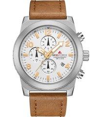 reloj armiforce 8011 cronografo - café