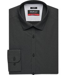 awearness kenneth cole awear-tech black mini dot slim fit dress shirt