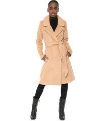 casaco sobretudo colcci amarração bege - kanui