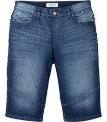 stretchiga jeansbermudas, normal passform