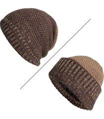 berretto a maglia in velluto lavorato a maglia da uomo in caldo inverno invernale