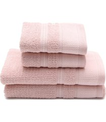 jogo de banho 4 pçs buddemeyer windsor rosa 70 x 135