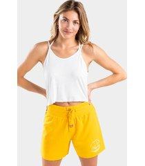 ashton button lounge shorts - mustard