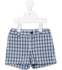 bonpoint plaid check stretch-cotton shorts - multicolour