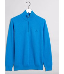 gant pullover met rits blauw 8030073-445 licht blauw