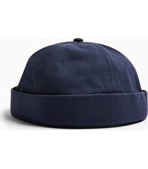 mens navy canvas docker hat