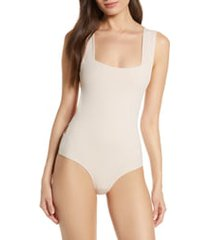 free people intimately fp oh she's strappy bodysuit, size small in dusty rose at nordstrom