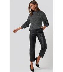 na-kd glittery knitted sweater - grey