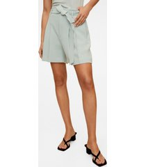 mango women's belt crepe shorts