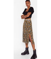 womens jacquard split leg midi skirt in chiffon - green