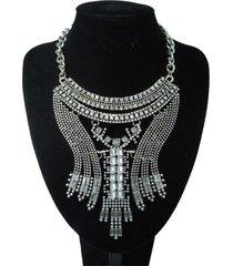 collar artesanal  plateado sasmon cl-12317