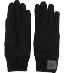 karl lagerfeld k/ikonik logo patch gloves - black