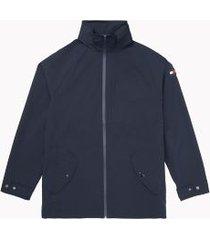 tommy hilfiger men's essential rain jacket sky captain - l
