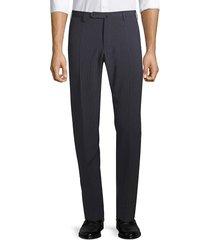 incotex men's virgin wool & stretch silk trousers - grey - size 38