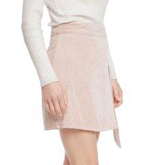 falda only elvira rosa - calce regular