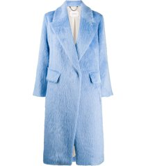 dorothee schumacher pure luxury single-breasted coat - blue