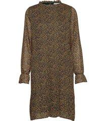 rikka dress knälång klänning brun minus