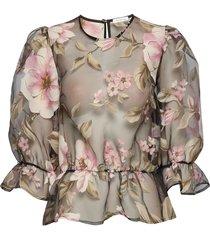 orlando top blouses short-sleeved multi/mönstrad ida sjöstedt