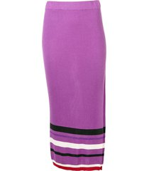cashmere in love high-waisted knitted skirt - purple