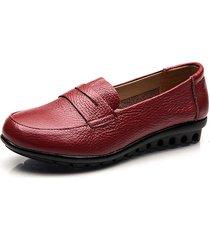 scarpe in pelle pura di colore su comodi guida mocassins mother flat shoes